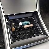 Center Console Organizer Tray for Tesla Model 3,Sunglass Holder,Coin,Cellphone,Small Items Storage Box for Tesla Model 3 Accessoies Non-Slip Armrest Organizer Tray