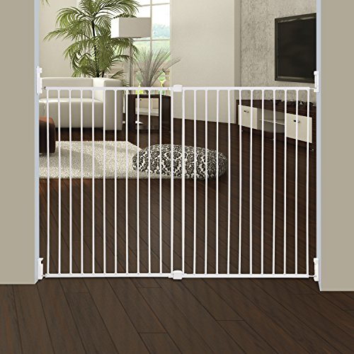 Extra Tall Dog Gates (Dreambaby Broadway Extra Wide and Tall Expandable Gate with Track It Technology, White)
