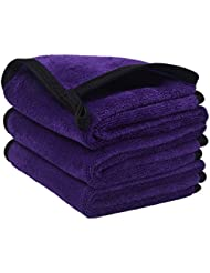 Sunland Microfiber Makeup Remover Facial Cloths Chemical Free Face Cleaning Towel 8inchx16inch purple 3 Pack