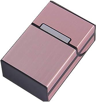Fumar Cigarrillos Funda de Cigarrillos de Aluminio Cigarro Soporte ...