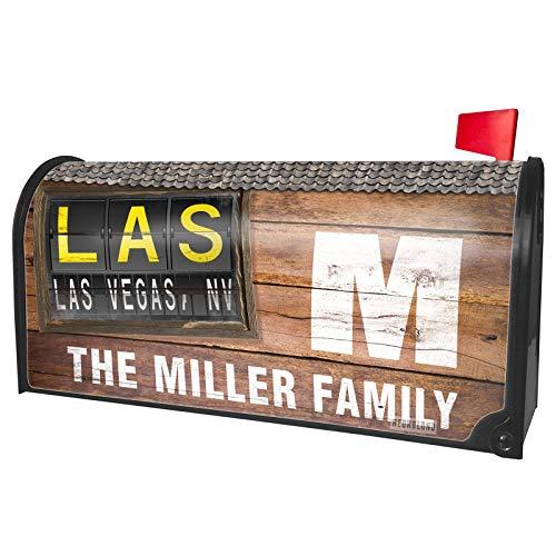 NEONBLOND Custom Mailbox Cover LAS Airport Code for Las Vegas, NV
