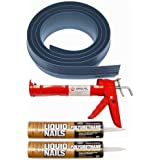 Auto Care Products Inc 51020 20-Feet Tsunami Seal Garage Door Threshold Seal Kit, Gray by Auto Care Products Inc.