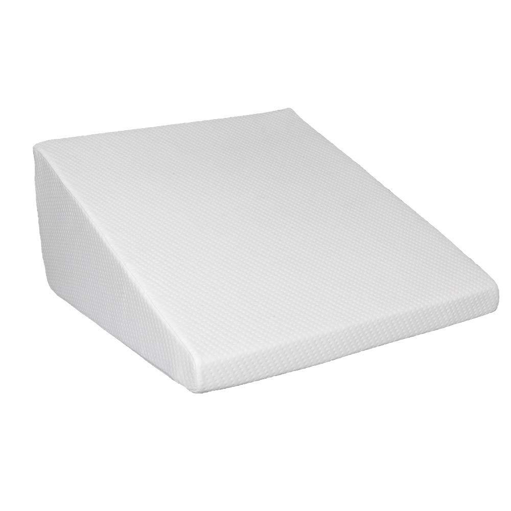 Jskjlkl Massage Back Support Wedge Pillow Lumbar Memory Foam Pillow for Gaming Reading White 25'' x 24'' x 12''