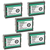 Kastar Cordless Battery (5 Pack), Ni-MH 3.6V 1000mAh, Replacement for Panasonic Type 92 P-P592 P-P592PA KX-A92 KXA92 KX-F900 KX-FMC230 KX-TC900 KX-TC900B KX-TC900DB KX-TC900DW, AT&T: 24893, BATT-A92