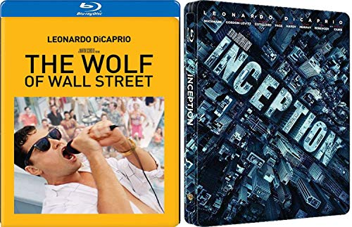 (Leo Double Pack Inception & The Wolf of Wall Street Exclusive Blu Ray 2 Movie set Feature Special Edition Leonardo DiCaprio Set)