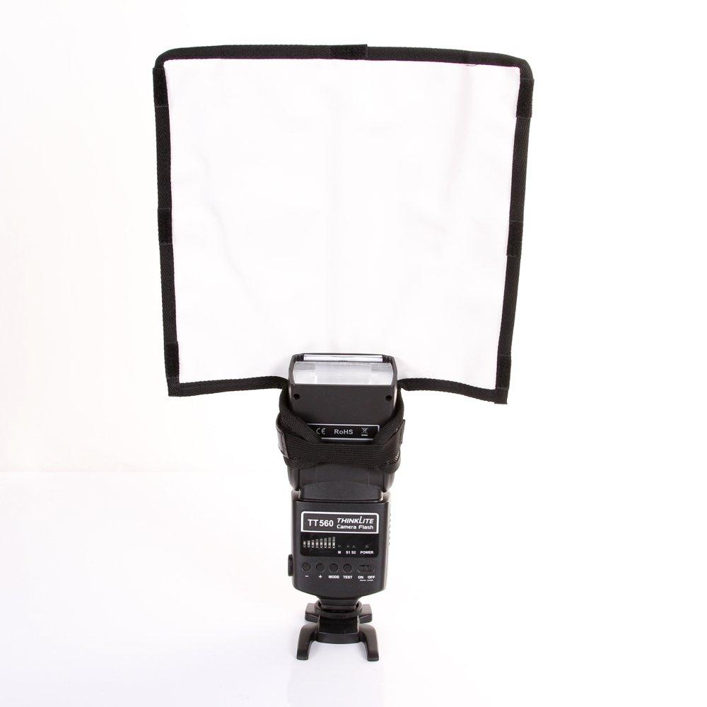FOTGA Foldable Speedlight Reflector Snoot Sealed Flash Softbox Diffuser Bender AR091