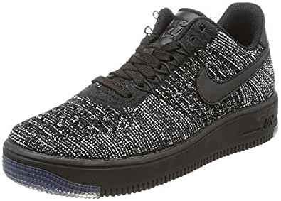 Nike - Air Force 1 Flyknit Low - 820256007 - Color: Gris-Negro - Size: 38.0 4aFC6RQ