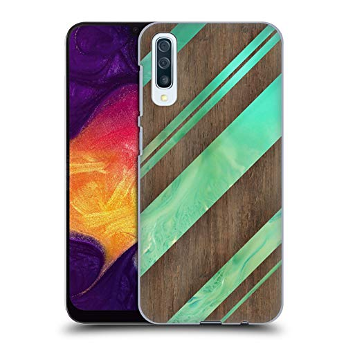 (Official Alyn Spiller Diagonal Stripes Wood & Resin Hard Back Case Compatible for Samsung Galaxy A50 (2019) )