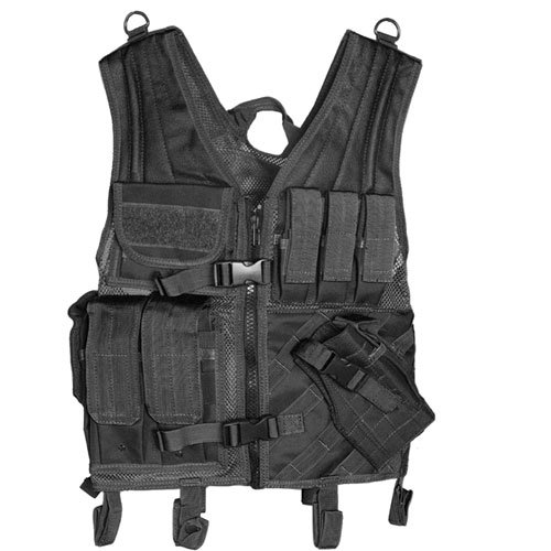 Fox Outdoor Products Assault Cross Draw Vest, Black - Ar15 Mag Cinch