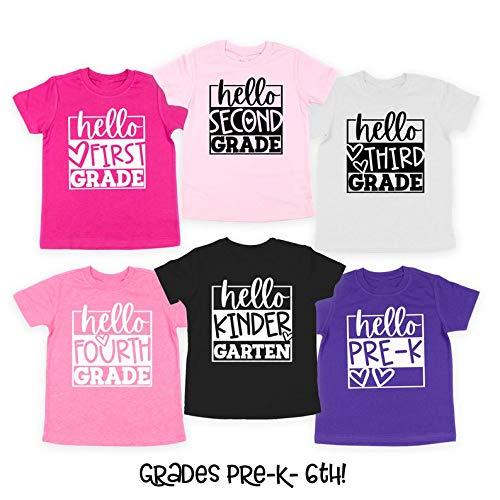 Girls Back to School Shirt Girls 1st Day of School Shirt School Hello School Shirts Preschool Shirt Kindergarten 1st Grade 2nd Grade 3rd