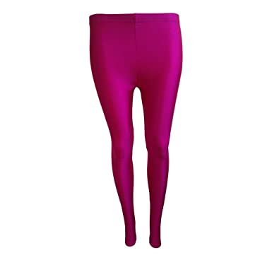 b397aec65 Girls Kids Footless Leggings Ballet Dance Gymnastics Shiny Nylon ...