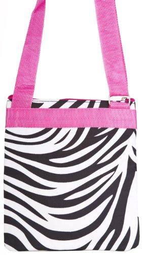 Pink Trim Crossbody Hot Purse Zebra Print w ZxY5fqZXC