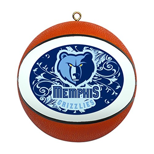 NBA Memphis Grizzlies Replica Basketball Ornament 4 Inch Glass Basketball Ornament