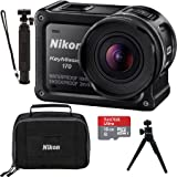 Nikon USA Refurbished KeyMission 170 4K Ultra HD Action Camera with Built-In Wi-Fi 16GB Accessory Bundle