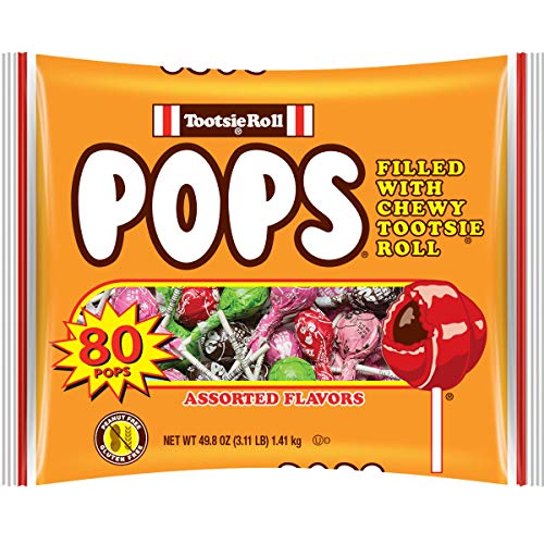 Tootsie Pops Assorted Flavors, 80 Count -