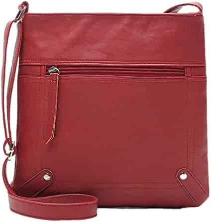 c60553221dcf Shopping Leather or Faux Leather - 4 Stars & Up - Reds - Handbags ...