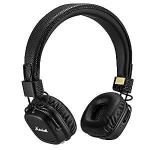 Marshall Major II Bluetooth On-Ear Headphones, Black (4091378) – Discontinued
