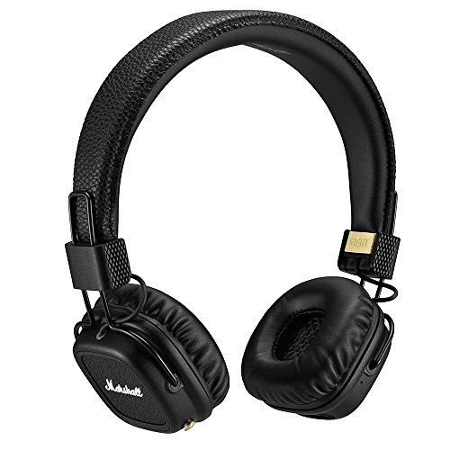 Marshall Major II Bluetooth On-Ear Headphones, Black (4091378)