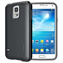 TUDIA Ultra Slim LITE TPU Bumper Protective Case for Samsung Galaxy S5 ** ONLY Compatible with Samsung Galaxy S 5 Wireless Charging Battery Cover** (Black)