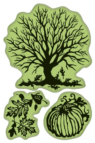 Inkadinkado Pumpkin - Inkadinkado Cling Stamps, Papercut Fall