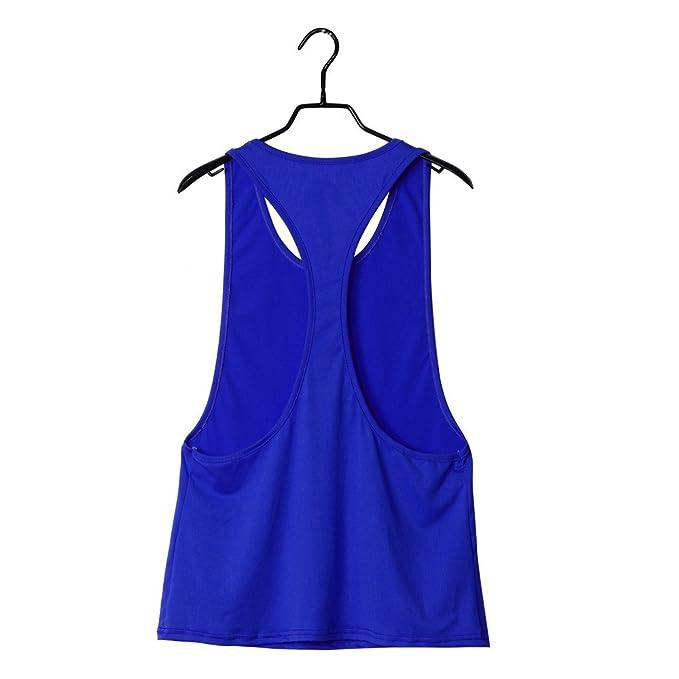 ... Vest Training Run Mujer Sport Blusa Tops Mujer Deporte Chaleco Fitness para Correr Chalecos Lactancia Camisetas sin Mangas: Amazon.es: Ropa y accesorios
