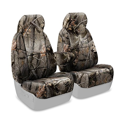 Coverking Front 50/50 High Back Bucket Custom Fit Seat Cover for Select Ford F-250 Models - Neosupreme (Realtree Hardwoods Camo Solid)