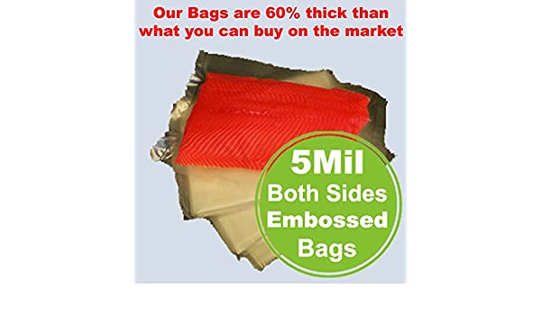 5Mil 100 Pint /& Quart Bags FoodSealer FoodSaver Weston Vacuum Sealer Rolls Bag