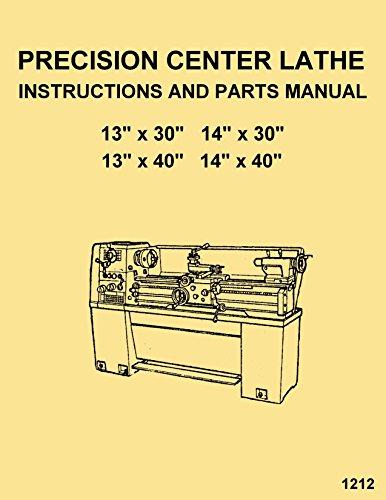 Enco,Warco,JET,Asian 1330 1340 1430 1440 Metal Lathe Instructions Operator's & Parts Manual -  Ozark Tool Manuals