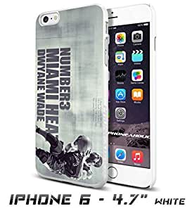 Basketball NBA Dwyane Wade 3 Miami Heat , Cool iphone 6 plusd 5.5 Inch Smartphone Case Cover Collector iphone TPU Rubber Case White [By PhoneAholic]