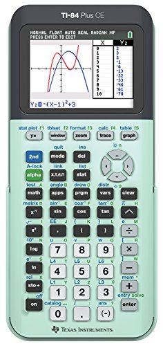 TI-84 Plus CE Color Graphing Calculator, Mint (Ti 84 Plus Ce Graphing Calculator Manual)