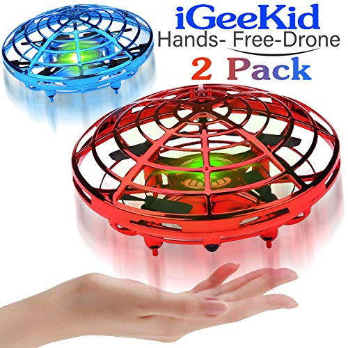 Drone Flying Toys for Boys or Girls Kids,Flying Ball Hand Controlled Quadcopter with LED Light Holiday Birthday Gifts,UFO Flying Ball Outdoor Toys 360°Rotating with Auto-Avoid Obstacles