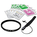LS Photography 52mm Multi-coated UV Protection Filter Camera Lens, Camera Accessory, Lens Cap Holder, Cleaning Wipes, LGG363