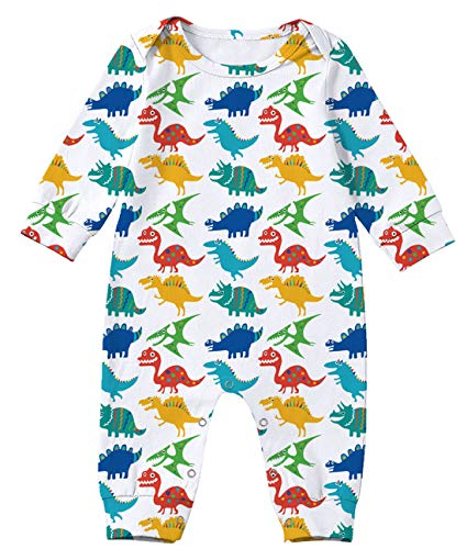 Kids4ever Cute for Baby Girls Fall Summer Casual Rompers Babe Boy Bodysuit Funny Pattern Oneise Vacation Newborn Gift(Blue,18-24 Months 2t)
