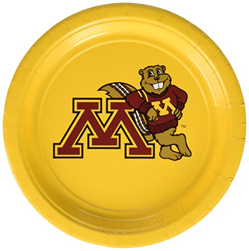 "Mayflower Distributing Company 55138 12Count University of Minnesota Plate, 7"", Multicolor"