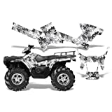 Camoplate-AMRRACING Quad Graphics decal kit fits Polaris ATV Sportsman 400,500,800 (2005-2010)-White