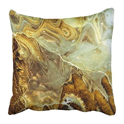 Emvency Decorative Throw Pillow Covers Cases Beige Abstract Brown Nacre Marble Gray Architecture Detail Canvas Counter Effect Elegance Floor 16x16 inches Pillowcases Case Cover Cushion Two Sided -