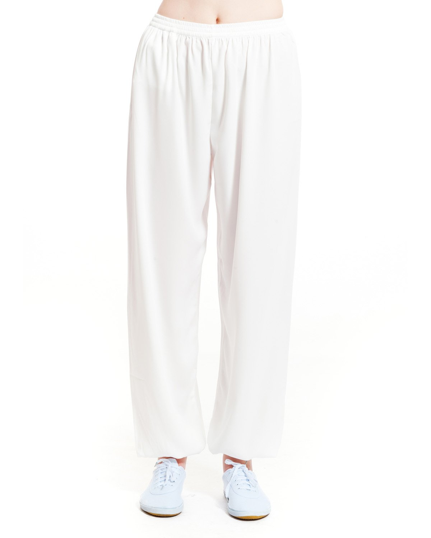 ICNBUYS Women's Kung Fu Tai Chi Pants Cotton Silk XXL Pink by ICNBUYS