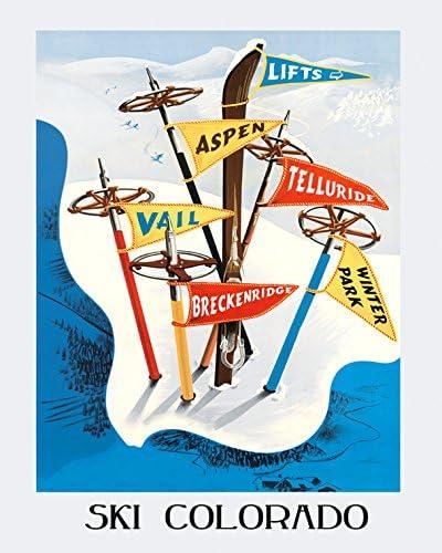 Framed Vintage Travel Poster Vail Colorado