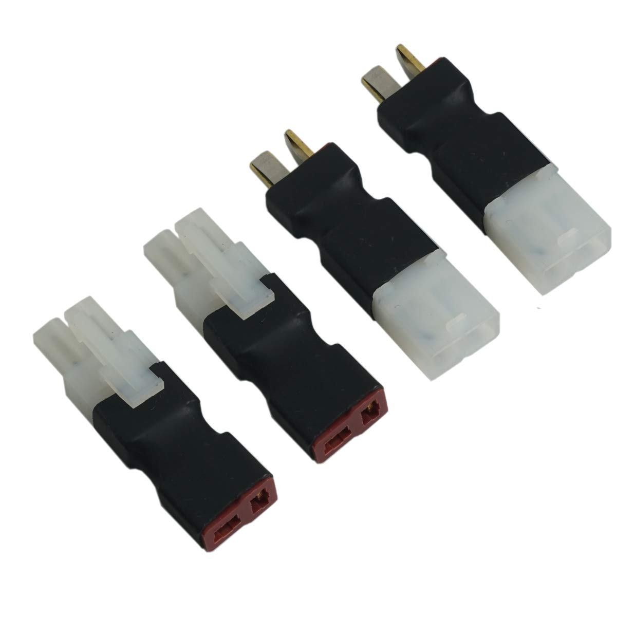 2 Pair ShareGoo No Wires Big Tamiya Style to Deans T Style Plug Female Male Adapter Wireless Connector for RC FPV Drone Car Truck Lipo NiMH Battery Charger ESC
