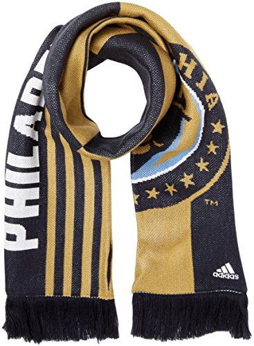 fan products of MLS Philadelphia Union Adult Unisex Checkerboard Jacquard Scarf, One Size, Navy/Khaki