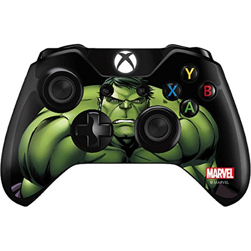 Skinit Decal Gaming Skin for Xbox One Controller - Officially Licensed Marvel/Disney Hulk is Angry Design (Controller Skin Xbox One Hulk)