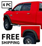 Premium Fender Flares for 2010-2018 Dodge Ram 2500 3500 (Fit Fleetside 76.3