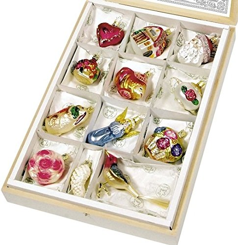 - Bride's Tree Ornaments Set of 12 By Inge-Glas, Hand Made in Germany