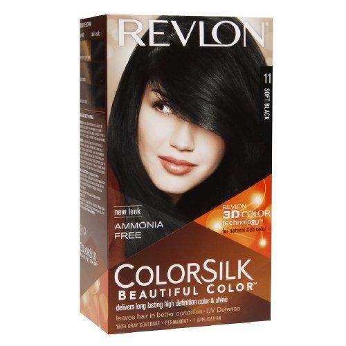 Revlon ColorSilk Beautiful Color, Soft Black [11] 1 ea (Pack of 12)
