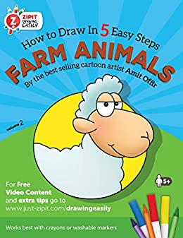 Farm Animals: How to Draw Farm Animals, Drawing Book for Children and  Adults: Drawing Books for Beginners (Drawing techniques and activity books  for