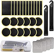 Bike Tire Patch Repair Kit, Aitakl 30Pcs Bike Tire Patch, Bicycle Motorcycle Tire Glueless Self-Adhesive Patch