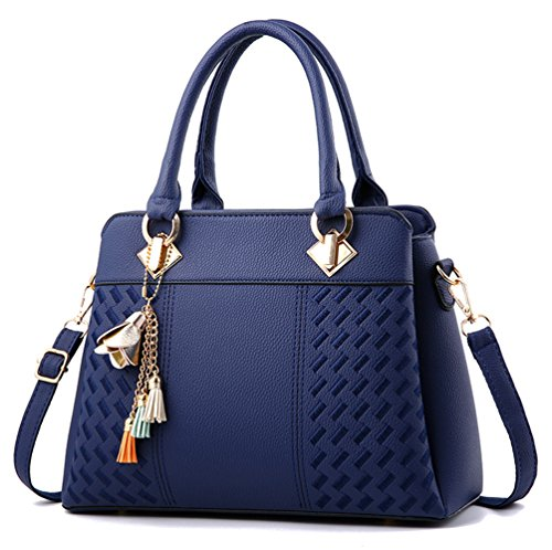 Blue Satchel Handbags - 7