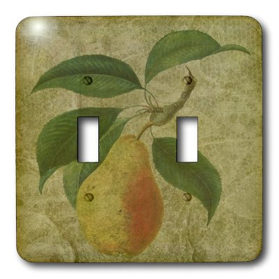 3dRose lsp/_6448/_2Pear Double Toggle Switch Multicolor