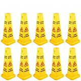 BestEquip Floor Safety Cone 26-Inch Yellow Caution