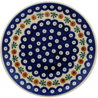Pottery Dessert (Polish Pottery Dessert Plate 7-inch Mosquito)
